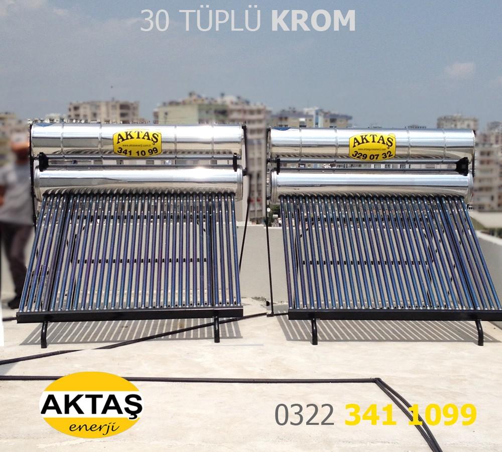 30 Vakum Tüplü Krom Güneş Enerjisi Adana