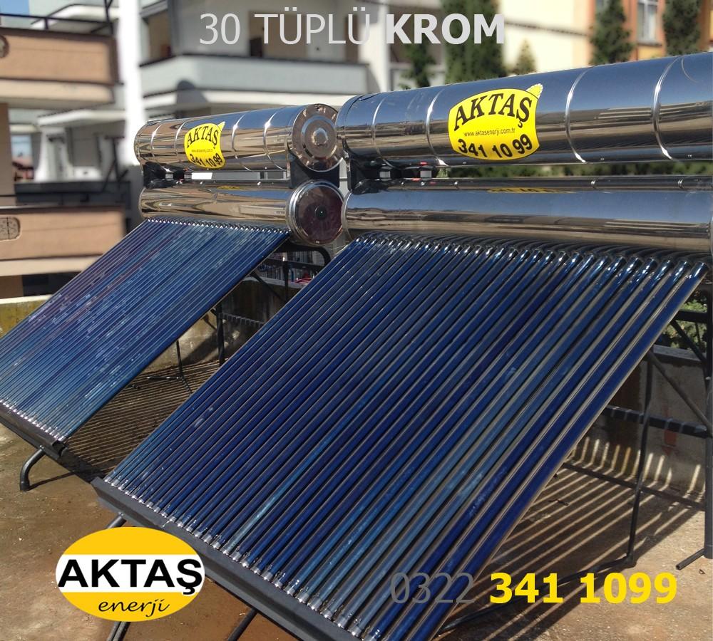 30 luk Vakum Tüplü Krom Güneş Enerji Adana