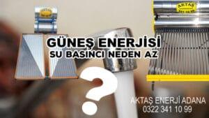 Güneş Enerjisi Su Basıncı Neden Az