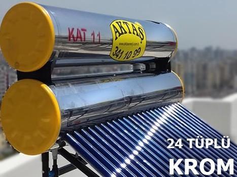 24 Tüplü Krom Güneş Enerjisi Adana