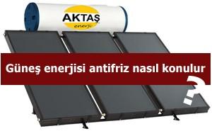 Güneş enerjisi antifrizi nasıl konulur